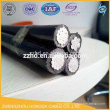 câble aérien avec câble messager câble torsadé aérien abc