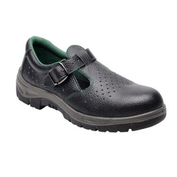 Sandália casual estilo Split em relevo couro calçados de segurança (HQ01050)