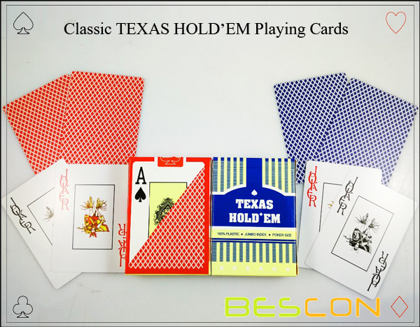 Classic TEXAS HOLDEM Playing Cards