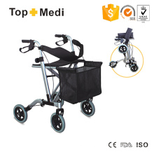 Topmedi Medical Faltbarer Aluminium-Walker-Rollator für ältere Menschen mit Behinderungen