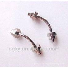 Anneaux chirurgicaux en acier inoxydable 316L anneau anneau