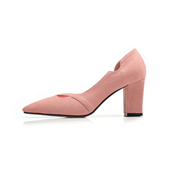 Frauen Wildleder Chunky Heels Pumps