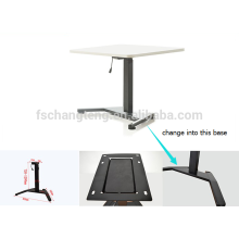 2016 single legs one motor electric customizable rise step sit to standing height adjustable desk