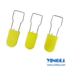 Selo de cadeado de plástico personalizado com impressões
