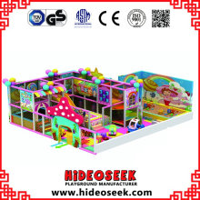 Centre de jeu intérieur à thème de bonbon avec bac à sable