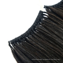 Black Color Human No Tip Feather Shape Hair Extensions Keratin Remy Virgin Hair