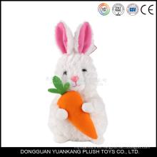 Venta al por mayor peluche Mini conejo blanco 15cm felpa juguete