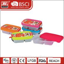 recipiente de alimentos seguros do compartimento 2 microondas