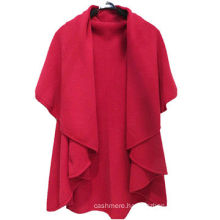 winter cashmere knitted poncho,knitted cape