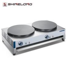 Machine électrique de fabricant de crêpe de gaz de comptoir d'acier inoxydable industriel et plaque chauffante
