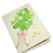 Impresión en offset impresa a todo color Customizd la tarjeta de felicitación