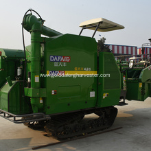 famous engine full-feeding rice combine harvesting