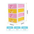 new design colorful top quality plastic pp mini makeup organizer box with drawer