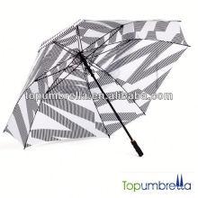 Buena calidad agradable paraguas de golf con ventilador