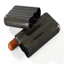 Colorful Carbon Fiber Cigar Case-Holds 4 Cigars