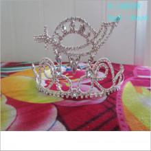 Atacado Fashion custom cityant tiara king crown holiday