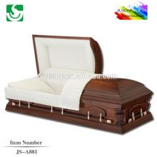 Fini semi-lustré haute qualité en vente bonne JS-A881 cercueils