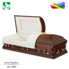 JS-A881 good selling high quality semi-gloss finish caskets