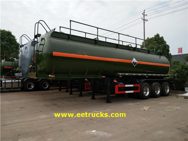 27T 7000 Gallon Hydrochloric Acid Tanker Trailers