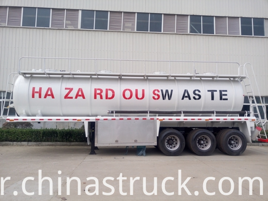Corrosion Protection Sewage Truck Semi Trailer