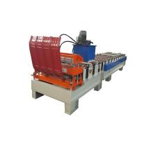 Rolo do telhado do metal que forma a máquina com máquina de encurvamento