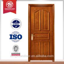Puerta de madera de diseño más reciente puerta de madera sólida