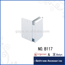Square bevel 90 glass clamp hinge single side square gate hinge