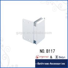 Square bevel 90 glass clamp hinge single side square gate hinge