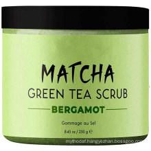 Anti-Cellulite Exfoliating Organic Caffeine Matcha Green Tea Dead Sea Salt Body Scrub