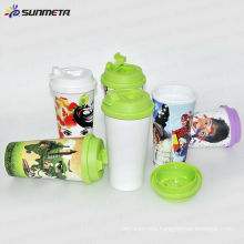 Sunmeta New double wall plastic cup mug---manufacturer