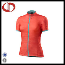 Full Zipper Short Sleeve Plain Cycling Jersey From China