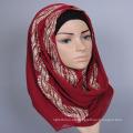 bufanda de fantasía mixta sólida lisa señoras de lujo al por mayor Arab Muslim Hijab