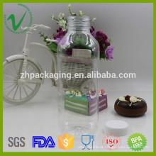 500ml PET transparente de alta qualidade quadrado vazio óleo de cozinha garrafa de plástico