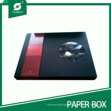 Caixa de embalagem de presente de Chocolate preto com janela de PVC