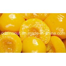 Pêssegos amarelos enlatados com metades, fatias, dados em xarope de luz ou xarope alto (HACCP, ISO, HALAL, KOSHER)