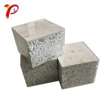 Paneles de sándwich de cemento de poliestireno expandido con divisiones prefabricadas de peso ligero verde