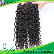 Precio barato de alta calidad del pelo humano Remy Virgen extensión del pelo