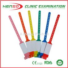 Pulseras de identificación de plástico desechables HENSO