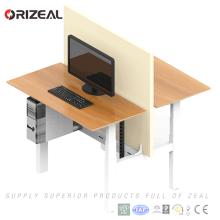 Mesa inteligente moderna de hierro orgánico de Orizeal altura ajustable escritorio de pie cara a cara