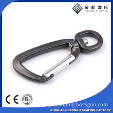 Personalized Black Metal Keychain Carabiner Hook For Wholesale