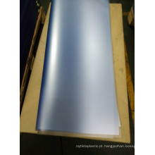 Folha transparente do PVC do fosco grosseiro do PVC para imprimir