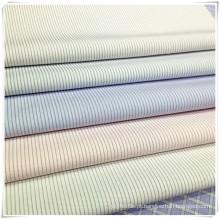 Tecido de listra de poli algodão pronto para uso para camisa