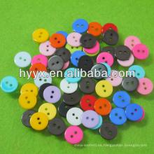 Mini botón plástico redondo
