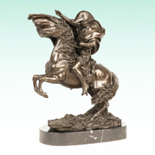 Männliche Figur Napoleon Metal Home Deco Bronze Skulptur Statue Tpy-461