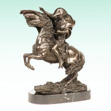 Figura masculina Napoleon Metal Home Deco Bronze Escultura Estátua Tpy-461