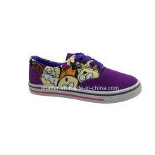 Zapatos de lona en blanco clásicos para niños (J2622-B)