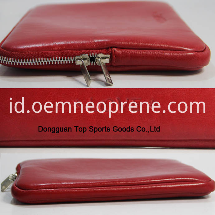 Red Leather ipad sleeves