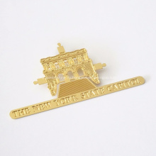 Новый дизайн золото травления металлических закладок для подарков