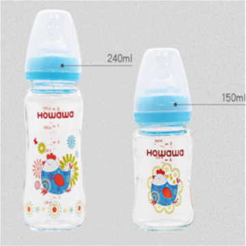 Glass Baby Feeding Bottle Tanpa Gagang 5oz