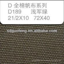 100% C 21/2 * 10 72 * 40 tela impermeable de lona de algodón de la tienda